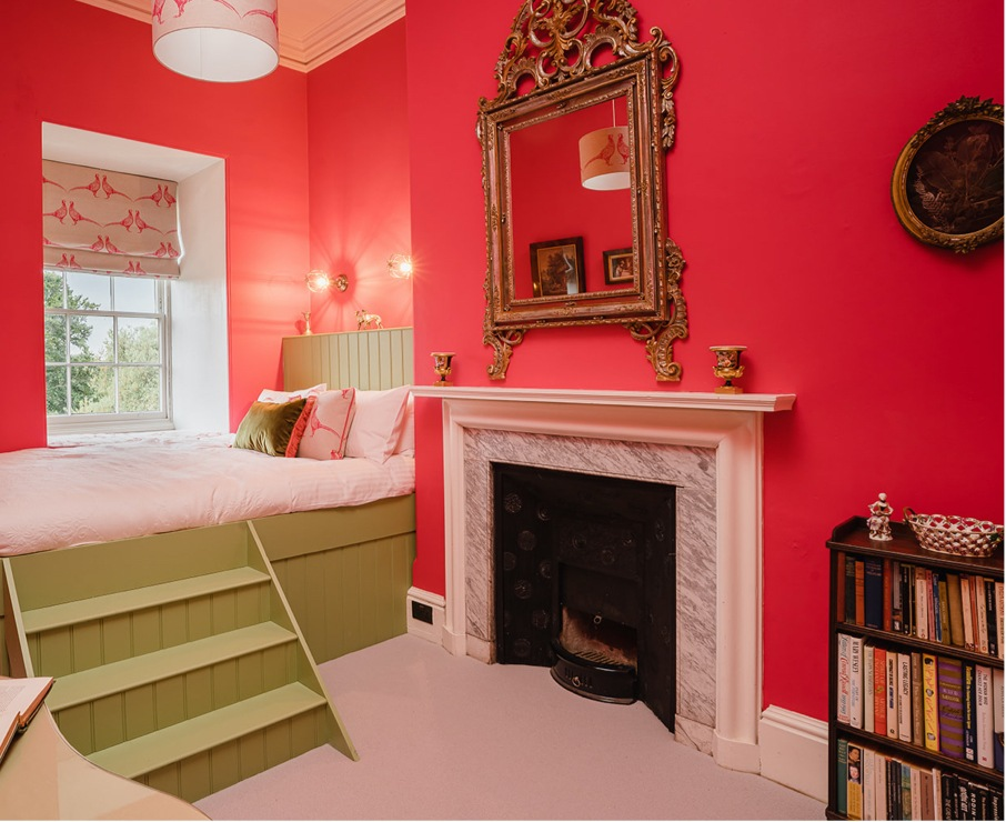 The Peter room offers luxury accommodation in Hampshire.